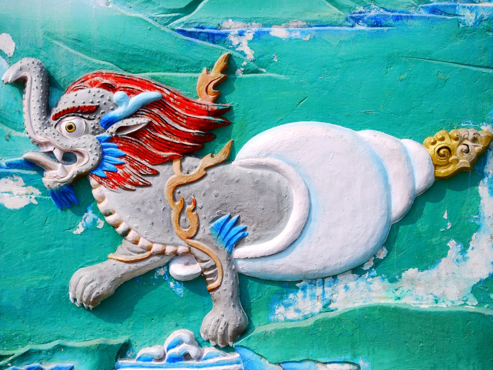 Seashell-dragon-elephant. Gangtok.